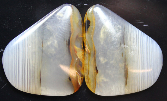 16.10 CTS WYOMING AGATE PAIR PERFECT FOR EARRINGS