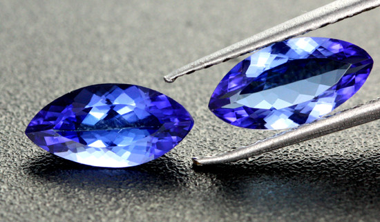 1.89 CTS VVS CERTIFIED TANZANITE PAIR - [ZST325]