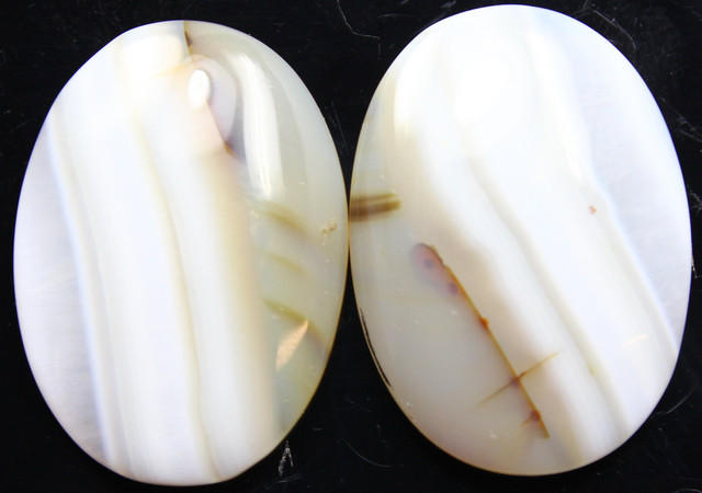 28.55 CTS WYOMING AGATE PAIR OF POLISHED STONES