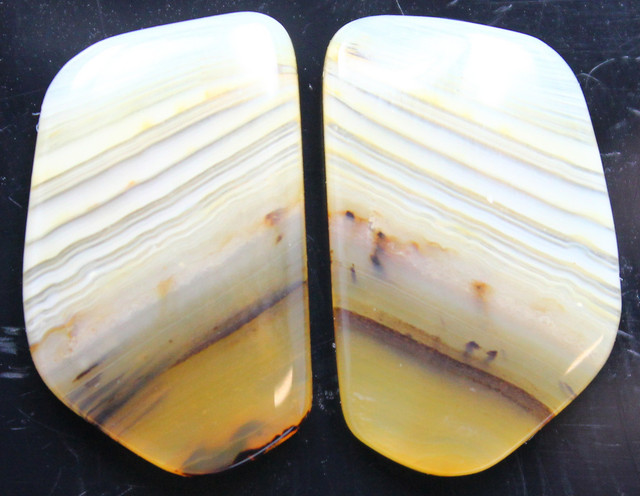 16.95 CTS WYOMING AGATE PAIR OF POLISHED STONES