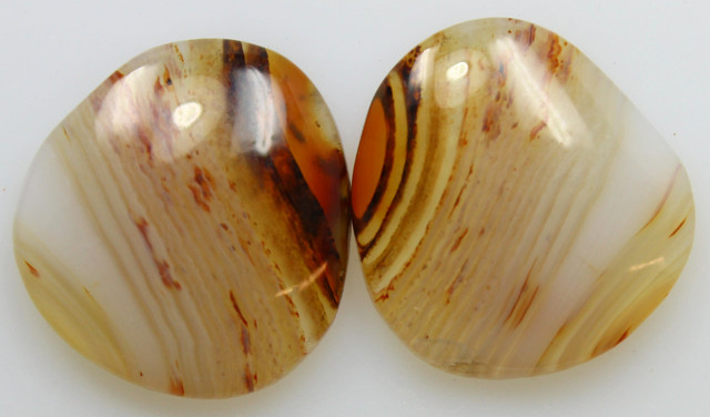 20.70 CTS WYOMING AGATE PAIR OF POLISHED STONES