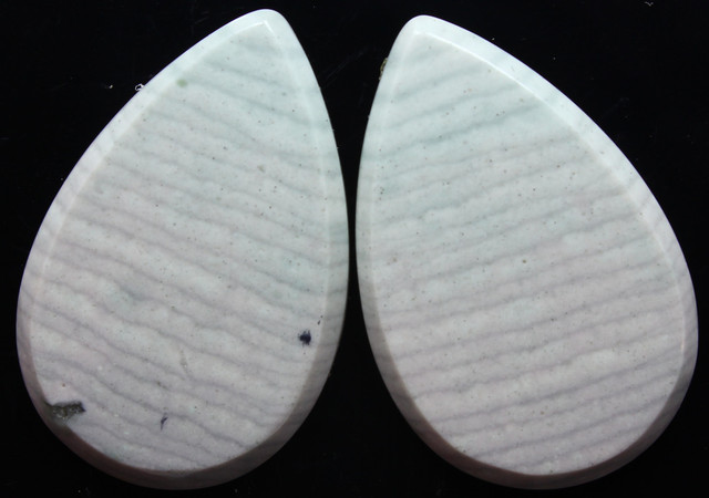 33.50 CTS WAVE JASPER PAIR FLAT CAB POLISHED STONE