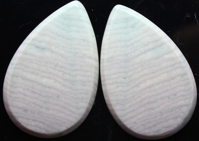 30.00 CTS WAVE JASPER PAIR FLAT CAB POLISHED STONE