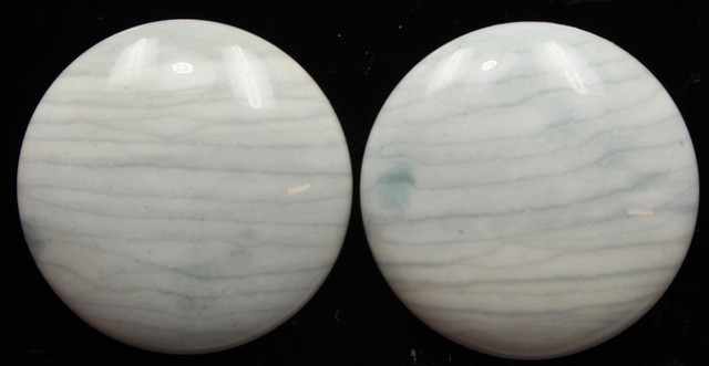 35.20 CTS WAVE JASPER PAIR FLAT CAB POLISHED STONE
