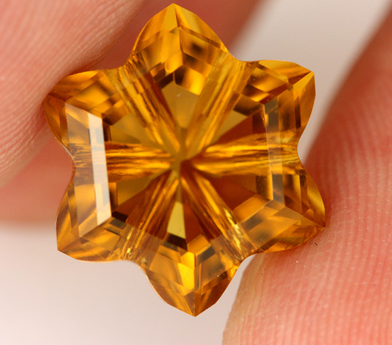 6.83CTS VVS CITRINE - CUT BY MASTER CARVER [CIT13]