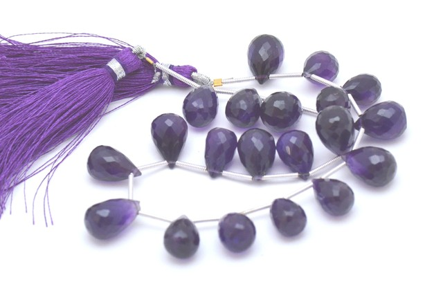 20 12 to 15mm Amethyst briolettes Supreme quality