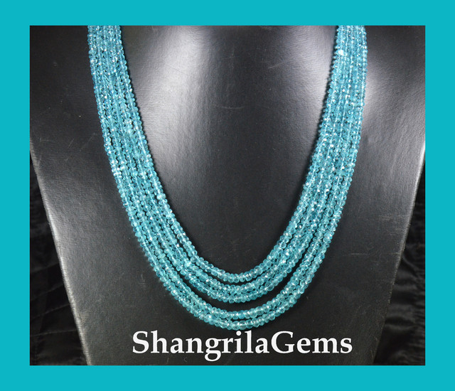5mm to 3mm 5 lines  AAA APATITE beads on a serapha AP015
