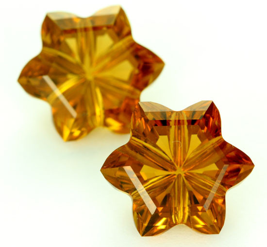 14.34 CTS VVS CITRINE FLOWERS - CUT BY MASTER CARVER [CIT15]
