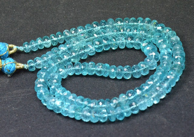 "5mm - 6.5mm 18"" Apatite Beads strung on serapha AAA AP013"