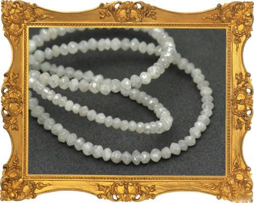 1.5mm to 2mm White Diamond Beads 15.25