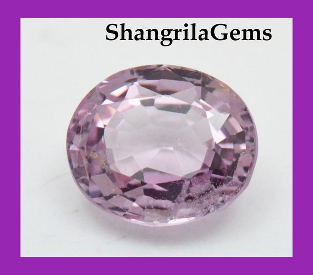 Light Pink & Lavender Spinel Gemstone 1.52ct  7.43mm Certify
