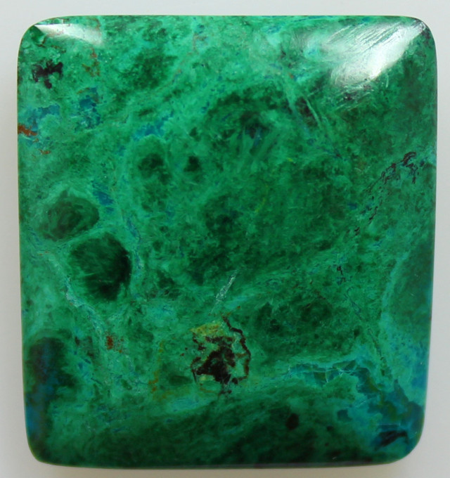 40.65CTS TOP CHRYSOCOLLA GREEN/BLUE POLISHED STONE FROM PERU