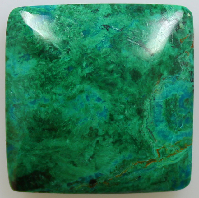 32.05CTS TOP CHRYSOCOLLA GREEN/BLUE POLISHED STONE FROM PERU