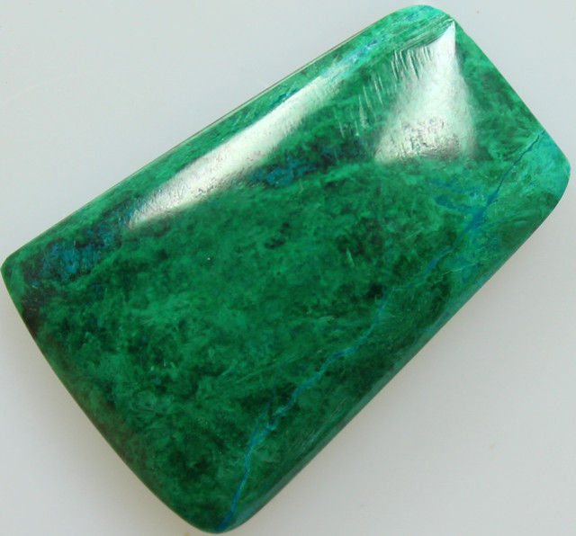 38.45CTS TOP CHRYSOCOLLA GREEN/BLUE POLISHED STONE FROM PERU