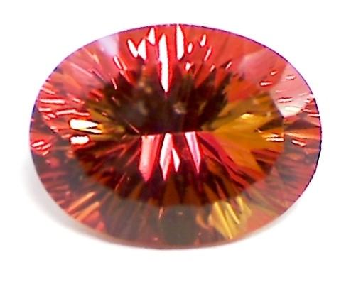 Huge17ct Tangerine Orange Mystic Topaz color sparks VVS A66