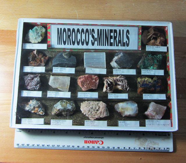 1.6 KILO MOROCCOS MINERALS DISPALY CASE MS 1947