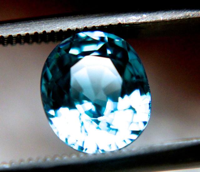 2.75 Carat VVS1 Blue Southeast Asian Zircon - Gorgeous