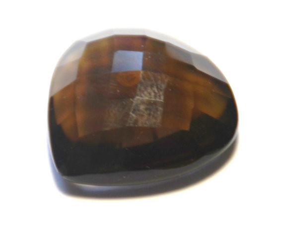 21.5mm Heart shape CUSHION CUT SMOKEY QUARTZ faceted gem