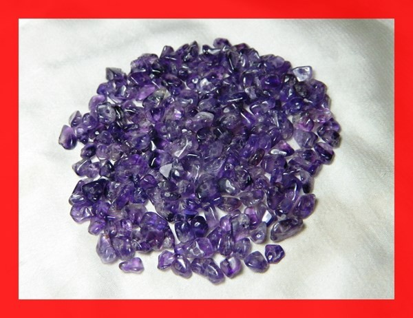 150cts Natrual Amethyst Candy Chips Beads Parcel Z392