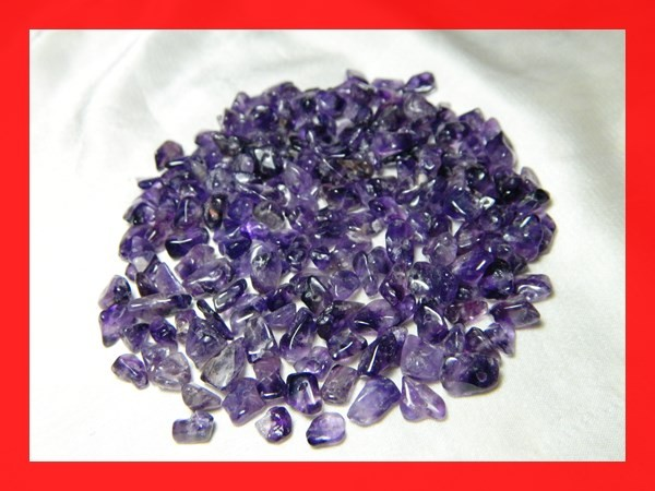133cts Natrual Amethyst Candy Chips Beads Parcel Z395