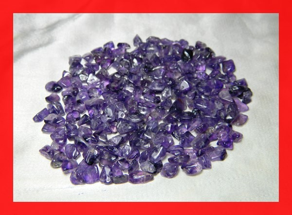 130cts Natrual Amethyst Candy Chips Beads Parcel Z397