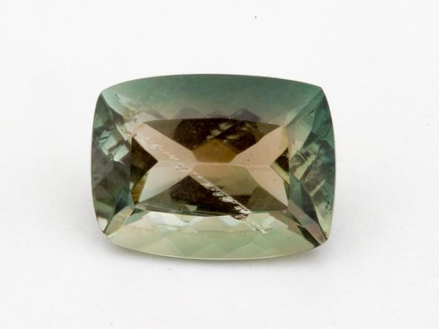 2ct Oregon Sunstone, Green/Clear Rectangle (S1303)