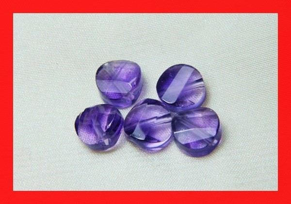 12ts 8mm Natural Brazil Amethsyt Faceted Beads Z517
