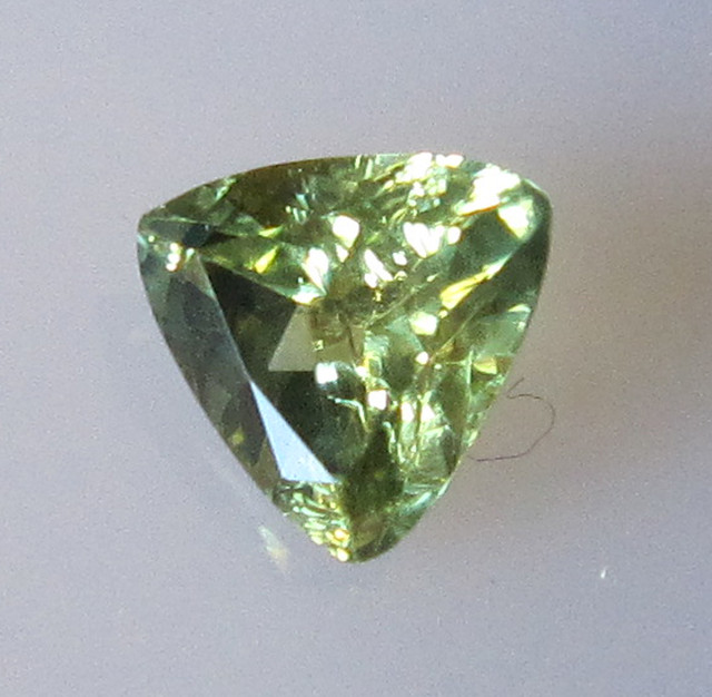 0.90cts Natural Australian Trillion Yellow Parti Sapphire