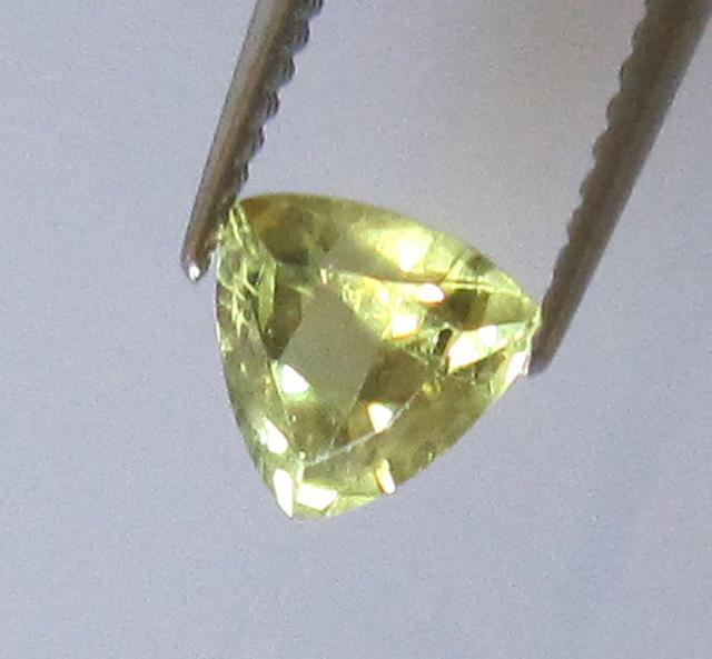 0.62cts Natural Australian Trillion Yellow Parti Sapphire