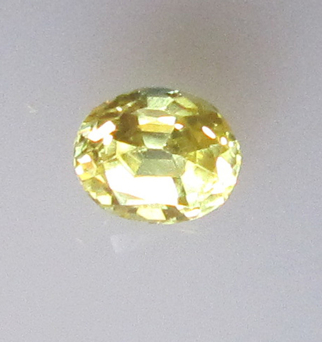 0.51cts Natural Australian Yellow Sapphire Oval Shape