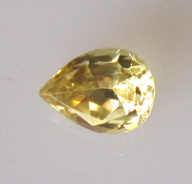 0.39cts Natural Australian Yellow Sapphire Pear Shape