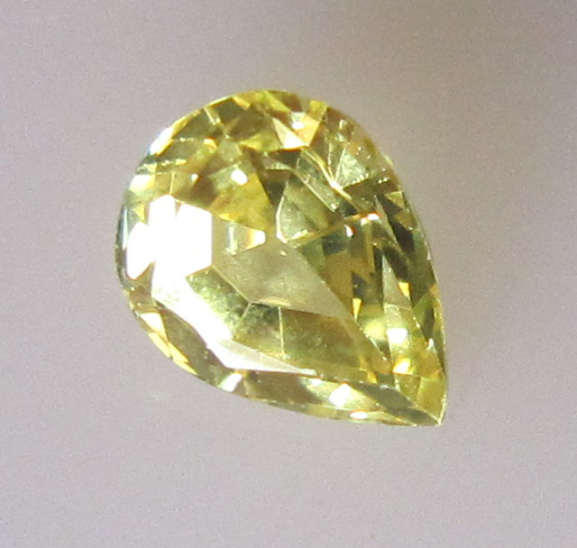 0.65cts Natural Australian Yellow Sapphire Pear Shape