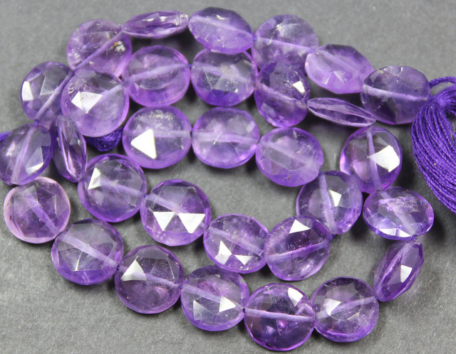 59 CTS FACTED AMETHYST BEADS 3I PIECES