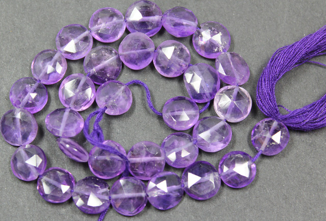 64.00 CTS FACTED AMETHYST BEADS 3I PIECES