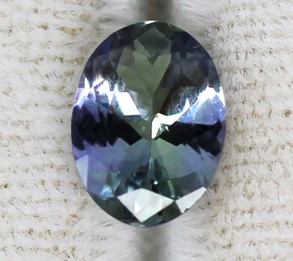 1.00  CTS  TANZANITE UNHEATED VIOLET BLUE GREEN  RNG-32