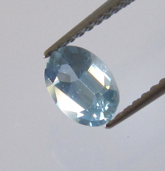 0.68cts Natural Australian Light Blue Sapphire Oval Cut