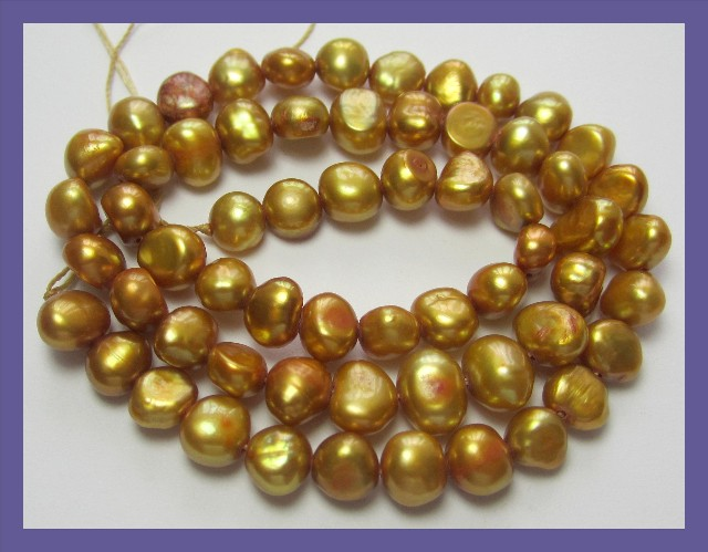 GORGEOUS QUALITY 11.50-12.00MM FRESHWATER COIN PEARL STRAND!!