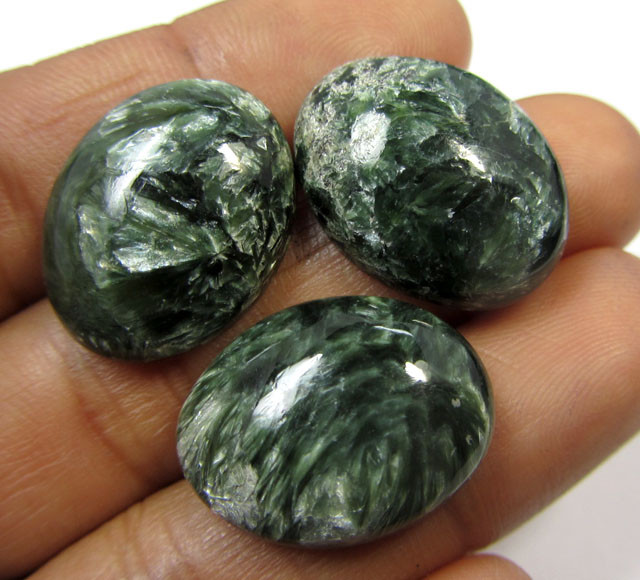 37 CTS   20X15 MM SERAPHINITE GEMSTONES   GG 924