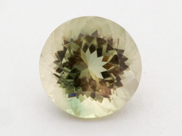 5.6ct Oregon Sunstone, Green/Champagne Round (S1218)