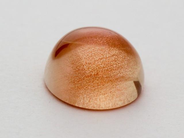 4.35ct Peach Round Cabochon Sunstone (S866)