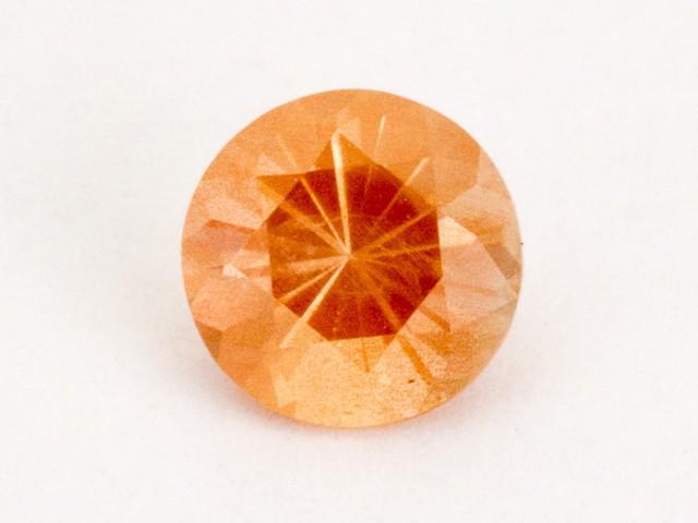 0.7ct Peach Round Sunstone (S876)