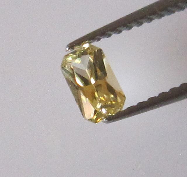 0.31cts Natural Australian Radiant Cut Yellow Sapphire