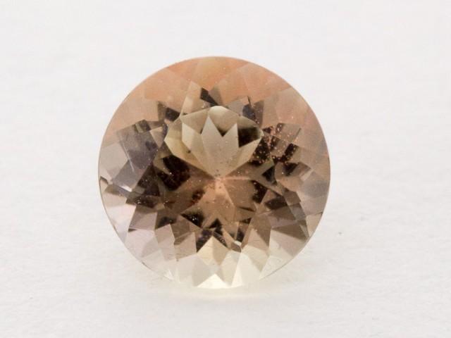 1.3ct Oregon Sunstone, Clear/Peach Round (S872)