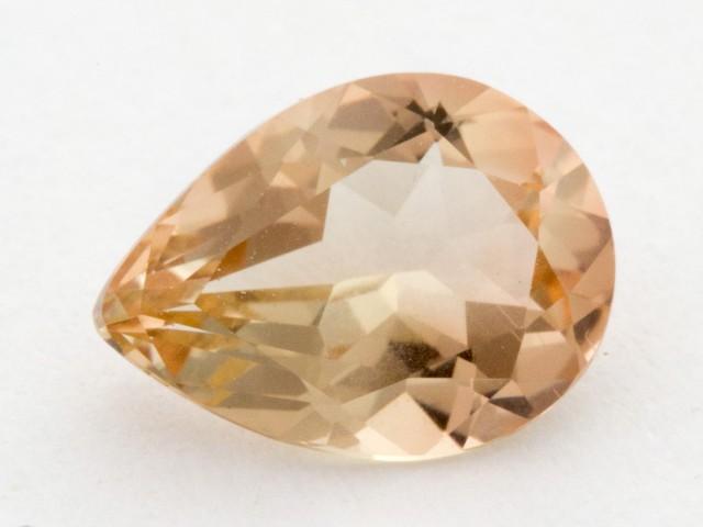 1.3ct Oregon Sunstone, Clear/Peach Pear (S1004)