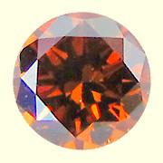 NATURAL VERY RARE- BROWN RED DIAMOND,0.49CTW, 1PCS