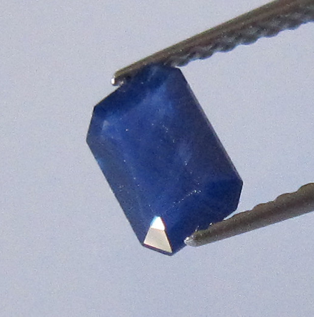 0.66cts Natural Australian Emerald Cut Blue Sapphire