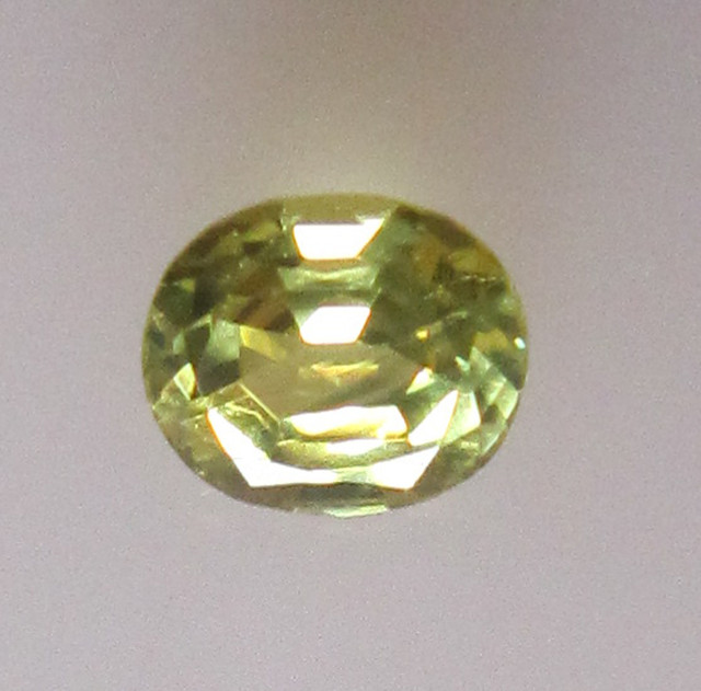 0.62cts Natural Australian Yellow Parti Sapphire Oval Shape