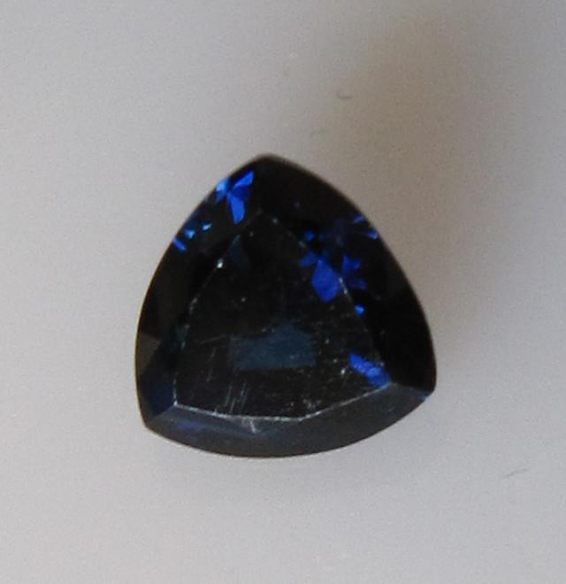 0.92cts Natural Australian Trillion Cut Blue Sapphire
