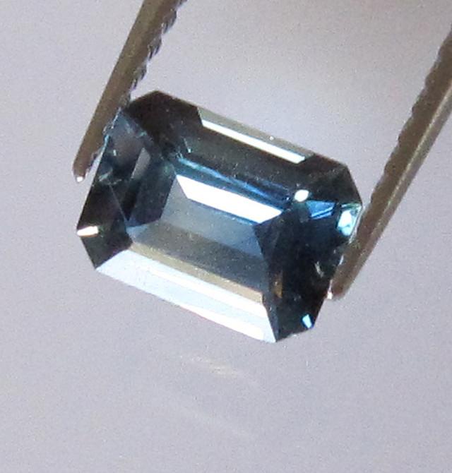 0.73cts Natural Australian Emerald Cut Blue Parti Sapphire