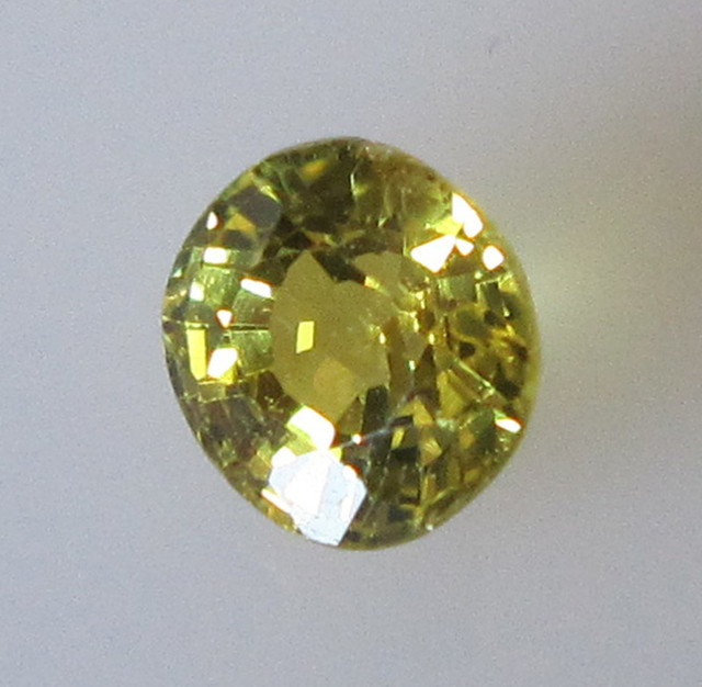0.76cts Natural Australian Round Yellow Sapphire